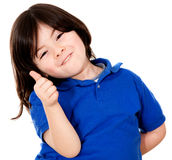 Boy with thumbs up Stock Images