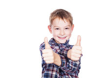 Boy with the thumbs up Royalty Free Stock Photo