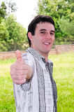 Boy with thumbs-up Royalty Free Stock Image