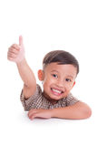 Boy with thumbs up Stock Photography