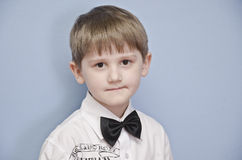 The boy with a tie-butterfly. Royalty Free Stock Photos