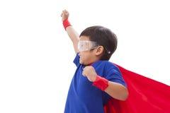 Boy to be a superhero Stock Photos
