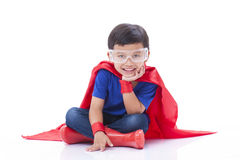 Boy to be a superhero Royalty Free Stock Images