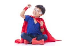 Boy to be a superhero Royalty Free Stock Photo
