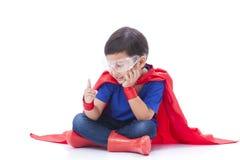 Boy to be a superhero Stock Photo