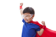 Boy to be a superhero Royalty Free Stock Photo