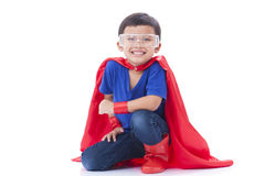 Boy to be a superhero Stock Photography