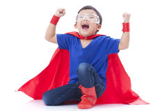 Boy to be a superhero Royalty Free Stock Photography