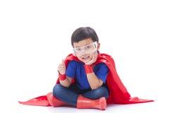 Boy to be a superhero Royalty Free Stock Photos