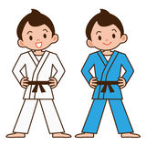 Boy to judo Royalty Free Stock Image