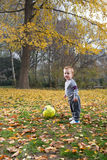 Boy to play ball Royalty Free Stock Photo