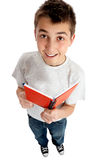 Boy to student with a book Stock Photo