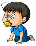 Boy toddler with dizzy eyes Stock Photos