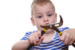 Boy with tool Stock Photography