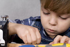 Boy with tools Royalty Free Stock Images