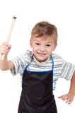 Boy with tools Royalty Free Stock Photos