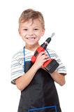 Boy with tools Stock Photos