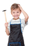 Boy with tools Stock Images