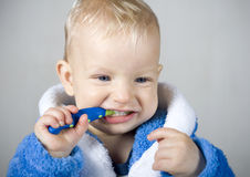 Boy with tooth brush. Little baby boy with tooth brush Stock Photo