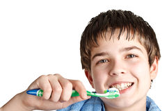 The boy with a tooth-brush. Royalty Free Stock Photography