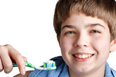 The boy with a tooth-brush. Stock Image