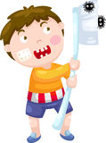 Boy with toothbrush vector Stock Photo