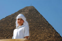 Boy tourist in Egypt Royalty Free Stock Image