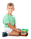 Boy with a toy Royalty Free Stock Photo