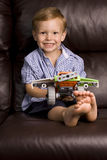 Boy with a toy Royalty Free Stock Photos