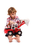 Boy with toy Royalty Free Stock Photography