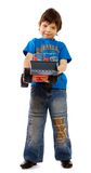 Boy with toy Stock Images