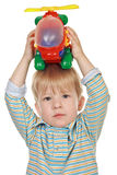 Boy with a toy Stock Image