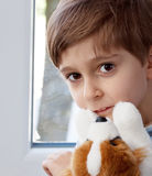 Boy with a toy Stock Photography