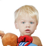 Boy with toy royalty free stock photo