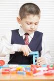 Boy with toy blocks Royalty Free Stock Photos