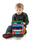 Boy with toy - car Stock Photo