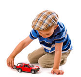 Boy and toy car Stock Photo