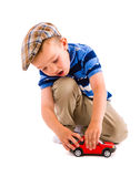 Boy and toy car Royalty Free Stock Photos