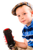Boy and toy car Stock Image