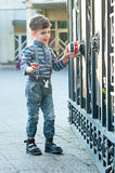 Boy with toy car Royalty Free Stock Photos