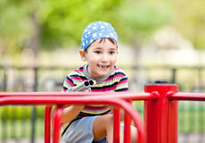Boy with toy gun Royalty Free Stock Photography