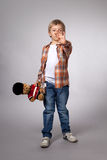 Boy with a toy Stock Images