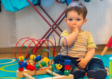 Boy and toy Stock Photography