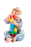 Boy with toys Royalty Free Stock Photos