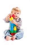 Boy with toys Royalty Free Stock Photos