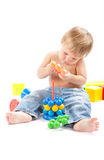 Boy with toys Royalty Free Stock Photography