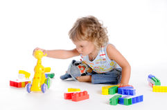 Boy and Toys Royalty Free Stock Image