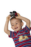 Boy with tractor Stock Photos
