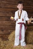 Boy in traditional eastern european clothes Royalty Free Stock Photography
