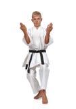 Boy training karate i Royalty Free Stock Image